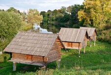 Free Barns On Stilts In Suzdal, Russia Stock Photos - 21391203