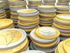 Free Euro Coins Royalty Free Stock Photography - 21391807
