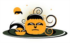 Pumpkin In Day Of Halloween Royalty Free Stock Photo