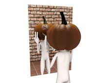 Free Pumpkin Man Stock Image - 21392151