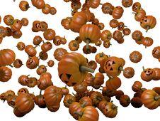 Pumpkins Falling Down Royalty Free Stock Photos
