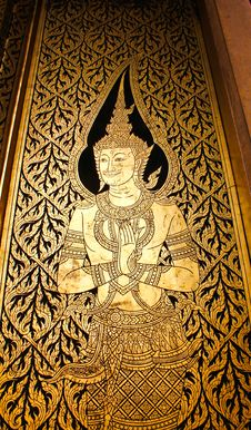 Free Buddha Door In Bangkok Royalty Free Stock Photos - 21392518