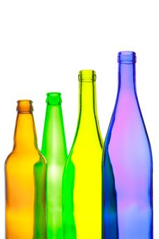 Free Empty Wine And Beer Bottles Stock Images - 21392984