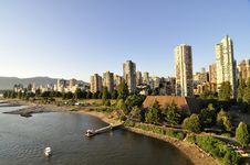 Residential Area By The Water Of Burrard Inlet Stock Photography