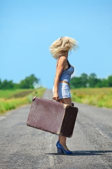 Womanl With Her Baggage