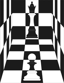 Chess, Queen And Pawn