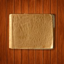 Vector Old Blank Notebook On Wood Backgrou Royalty Free Stock Photo