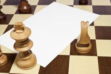 Free Space Blank On Chessboard Royalty Free Stock Photos - 21394348