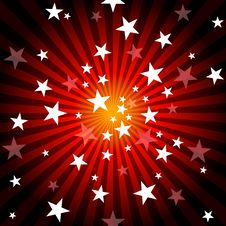 Sun Rays And Stars Royalty Free Stock Image