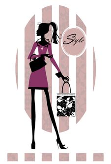 Free Fashion Girl With Shopping Bag Royalty Free Stock Photography - 21395177