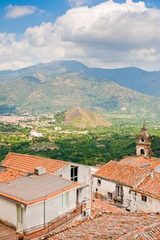 Mountain Valley In Sicily Stock Photography