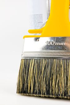 Free Paint Brush And Paint Bucket Stock Images - 21397844