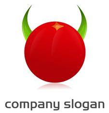 Free Angry Tomato Logo Royalty Free Stock Photos - 21398778