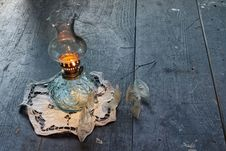 Free Ancient Vintage Oil Lamp Royalty Free Stock Photography - 2140527