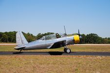 Free Vintage Silver Airplane Stock Photography - 2140702
