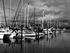 Sailboats At Marina Royalty Free Stock Images