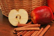 Apples And Cinnamon Stock Images