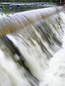 Weir In Flood - 2 Royalty Free Stock Photos