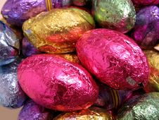 Free Chocolate Easter Eggs Stock Photography - 2142632
