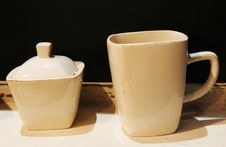 Cup And Sugar Bowl Royalty Free Stock Photo