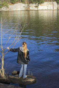 Free Young Woman At The Lake 2 Stock Photos - 2143903