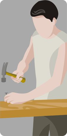 Worker Illustration Series Stock Photo