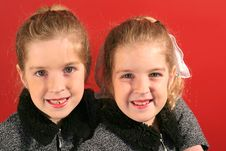 Free Twin Sisters Together Royalty Free Stock Photography - 2148557