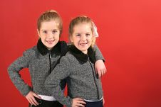 Free Twin Sisters Hanging Out Royalty Free Stock Photos - 2148568