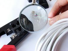 Free Crimper&cable Magnified Stock Photography - 2149582
