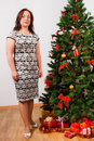 Free Beutiful Woman Near A Fir-tree Royalty Free Stock Photography - 21404617