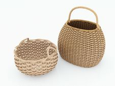 Free Wicker Basket Royalty Free Stock Image - 21400436