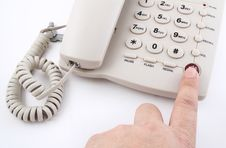 Free Finger Push Button Stock Photos - 21401923