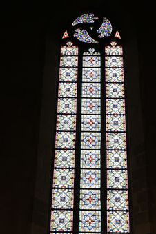 Free Stained Glass Window In Church Royalty Free Stock Photos - 21402508