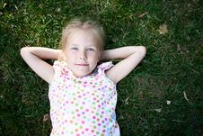 Free Girl  On The Grass Royalty Free Stock Photo - 21402815