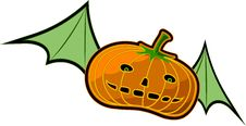 Flying Pumpkin Stock Photo
