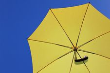 Yellow Umbrella Stock Images