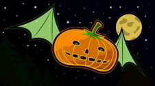 Flying Pumpkin Royalty Free Stock Image