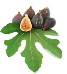 Ripe Purple Fig Fruits  And Leaf Royalty Free Stock Images