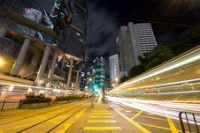 Free Urban Traffic At Night Royalty Free Stock Photos - 21403458