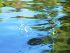 Free Soap Bubbles Above Water Stock Image - 21403781