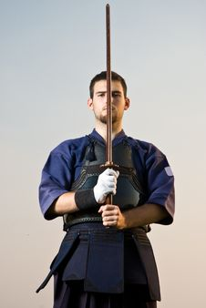 Free Kendo Fighter Royalty Free Stock Photography - 21404557