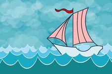 Free Sailing Yacht Royalty Free Stock Image - 21405096
