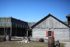 Free Interior Of Fort Michilimackinac Stock Images - 21405714