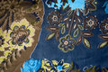 Free Blue Floral Texture Fabric Royalty Free Stock Images - 21411869