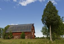 Free Red Barn Royalty Free Stock Images - 21410849