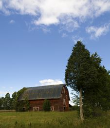 Free Old Red Barn Royalty Free Stock Photo - 21410855