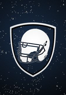 Free American Football Badge Stock Photography - 21412512
