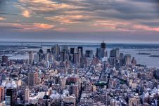 Free Manhattan From Empire State Building View Royalty Free Stock Image - 21412786