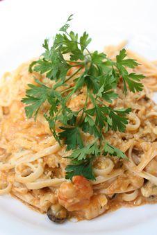 Free Gourmet Seafood Pasta Stock Image - 21418881