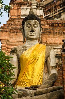 Ancient Image Buddha Statue Royalty Free Stock Image